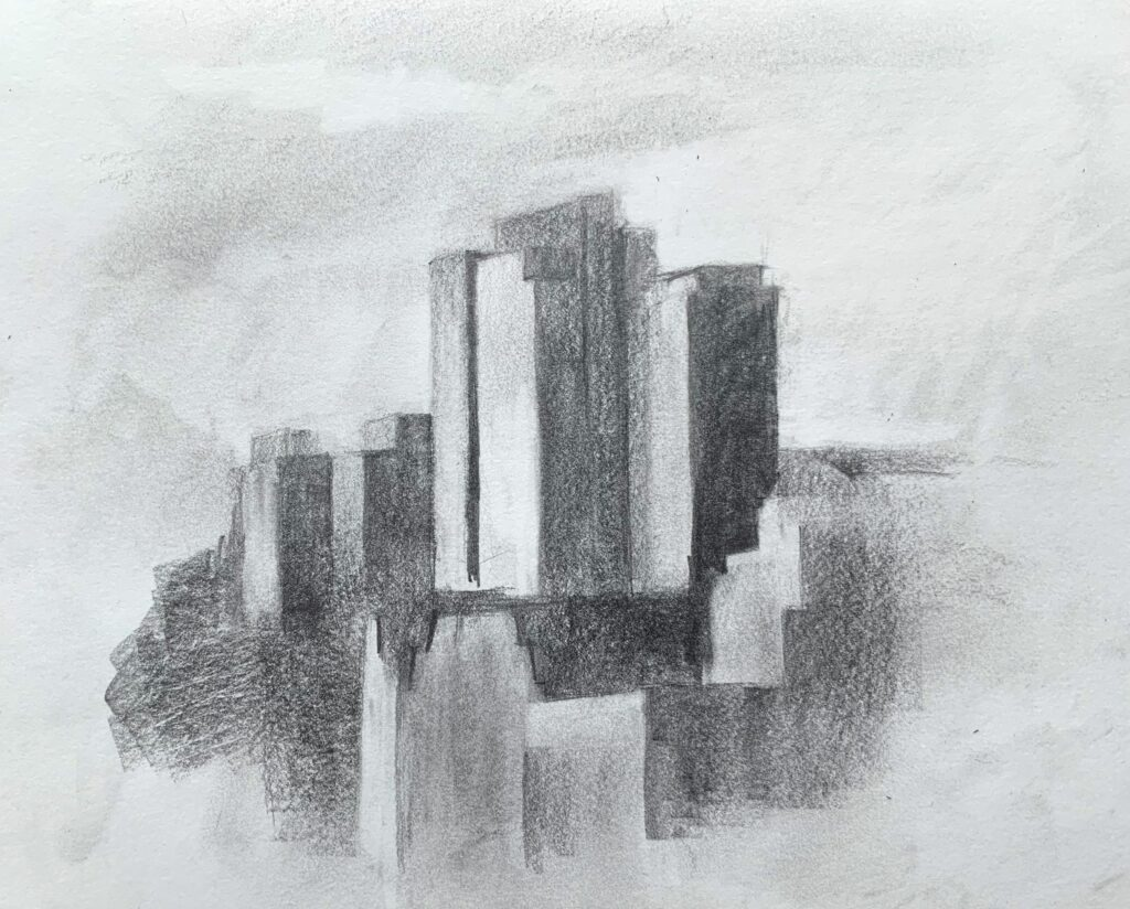 city drawing sketches cityscapes