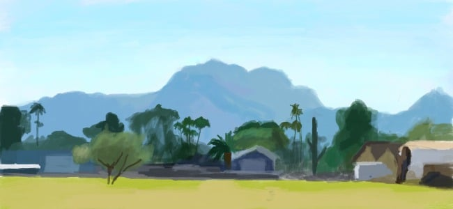 Digital painting landscape, digital painting guide for beginners
