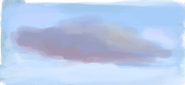 digital painting of a cloud study