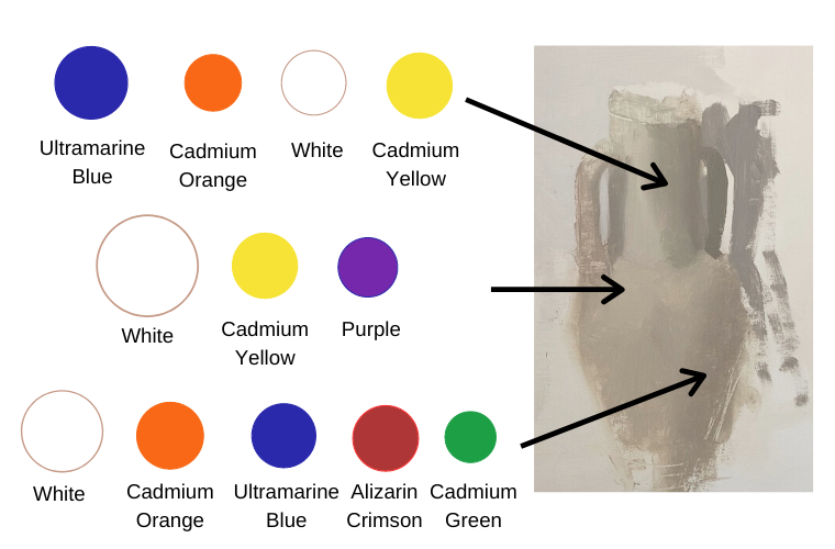 shades of white color diagram