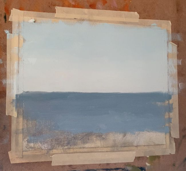 basic sky and water for a painting of the sea