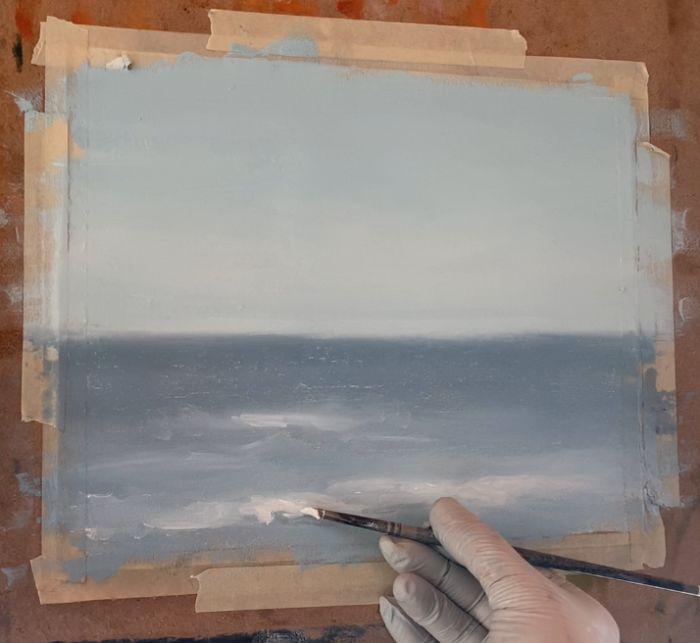 sharpen edges on ocean waves