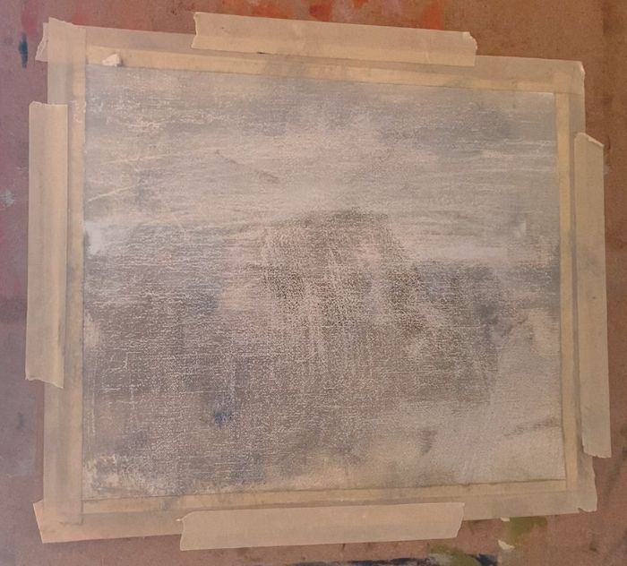 Blank canvas for an ocean painting