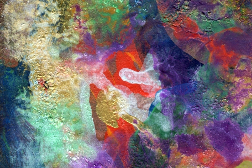 Abstract painting of multi colors