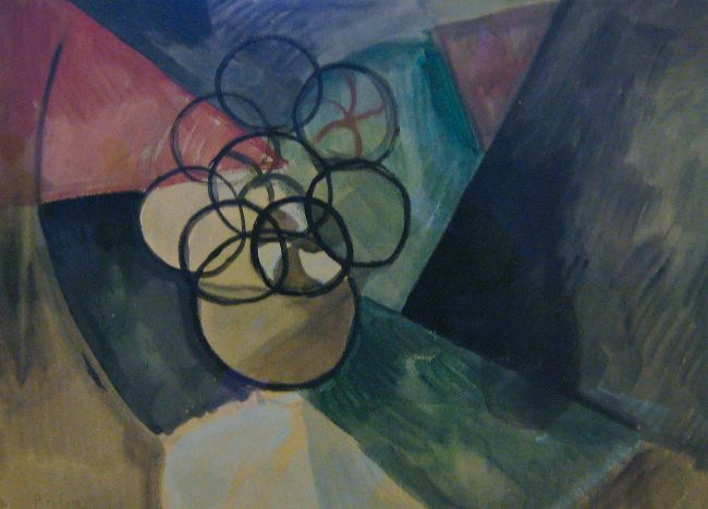 abstract painting of different shapes and colors