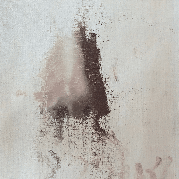 three quarters partial painting of a nose