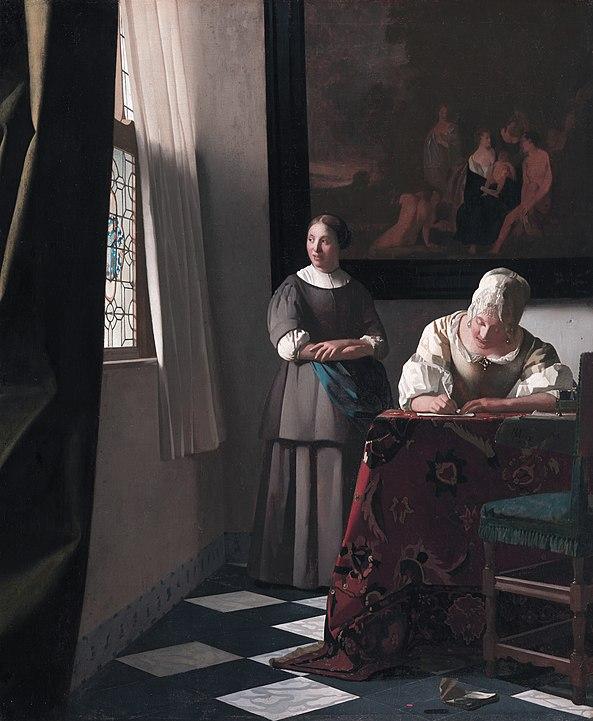 vermeer painting of two women