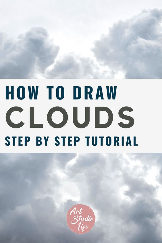 Learn how to draw clouds in this step by step drawing tutorial from ArtStudioLife.com