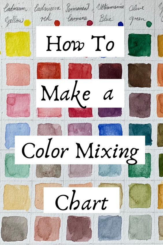 Learn how to make a color mixing chart with step by step instruction from ArtStudioLife.com
