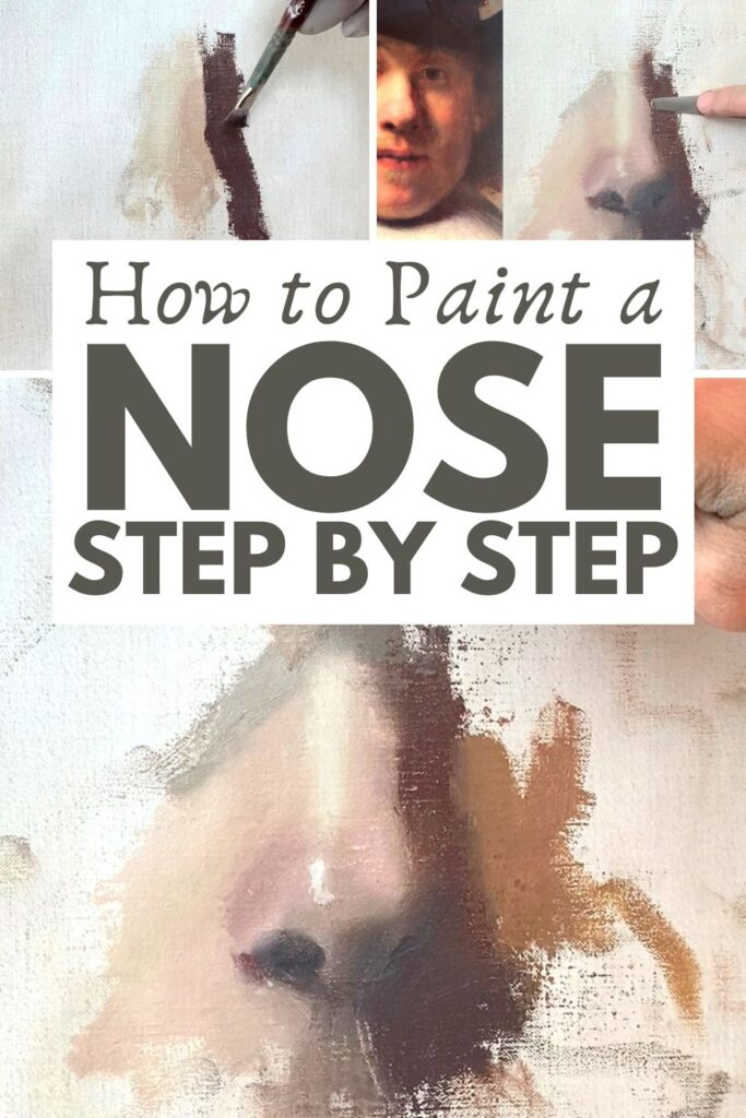 Learn how to paint a nose in this detailed nose painting tutorial from ArtStudioLife.com