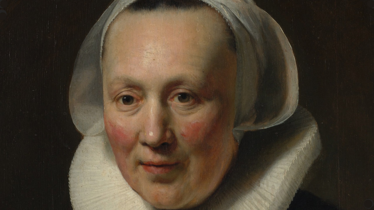 closeup painting of a woman's face to show how to paint a nose