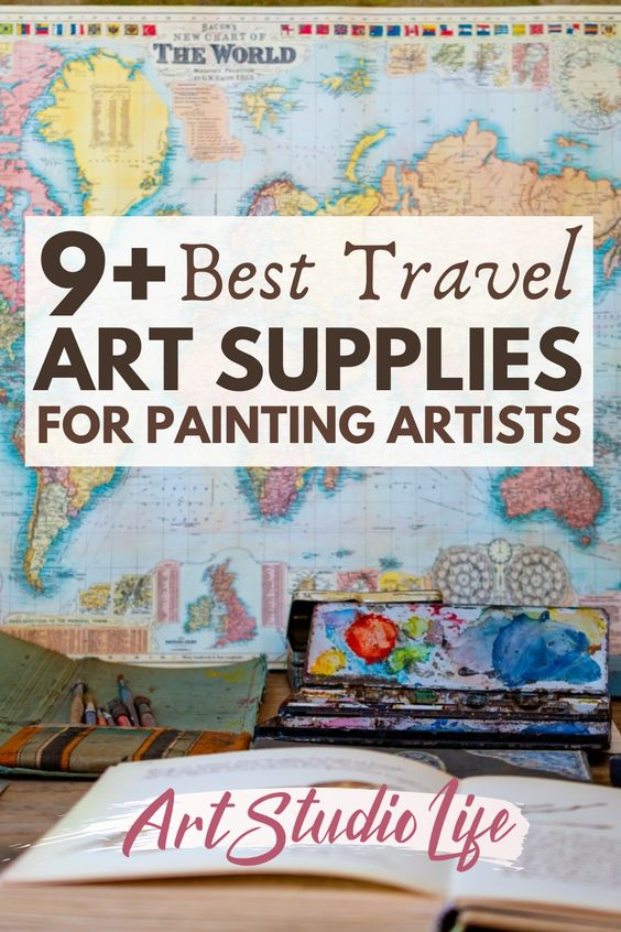 9+ best travel art supplies for painting artists who love to travel. Read more at ArtStudioLife.com
