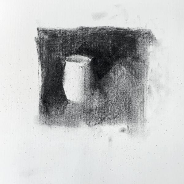 sketch of a vase demonstrating what the purpose of thumbnail sketches are